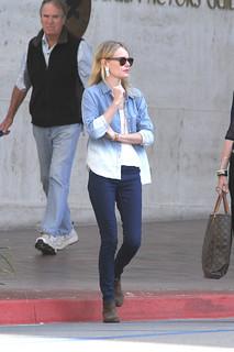 Kate Bosworth Denim Shirt Celebrity Style Woman's Fashion