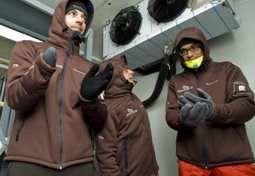 Los tres miembros de la expedición.