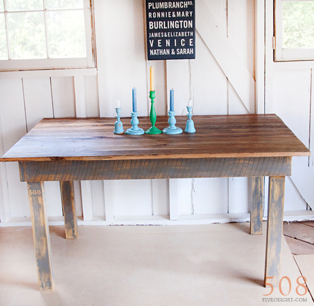 No. 40 {barnwood table}