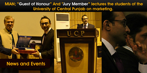 Mian Mohsin Zia's inspiring lecture at university of central punjab