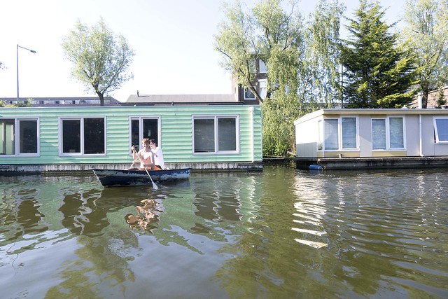 houseboat summer Amsterdam  _2