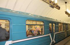 Ballons dans le métro