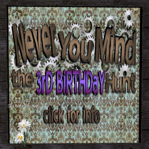 Never You Mind the 3rd Birthday Hunt info by Cherokeeh Asteria