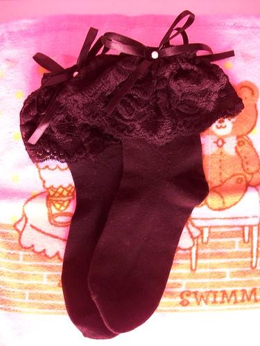 black ankle socks