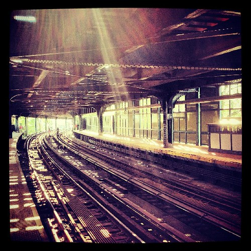 Subway Station Coney Island by Luna Park NYC