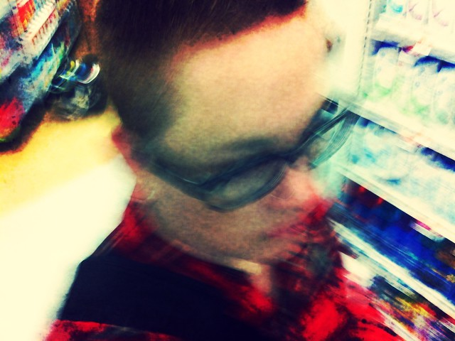 blurry me at Shoppers