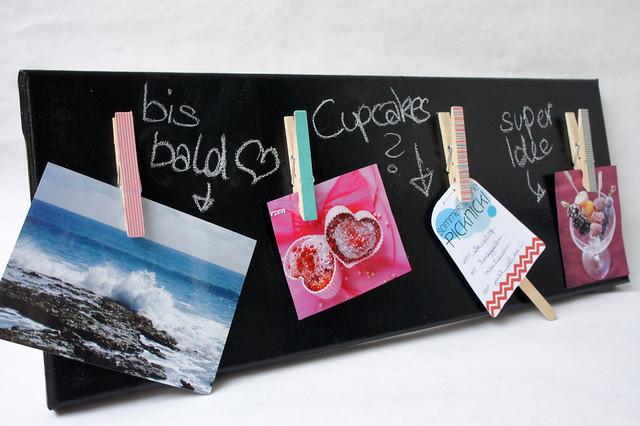 DiY Fotoboard mit Tafelfarbe und Masking Tapes