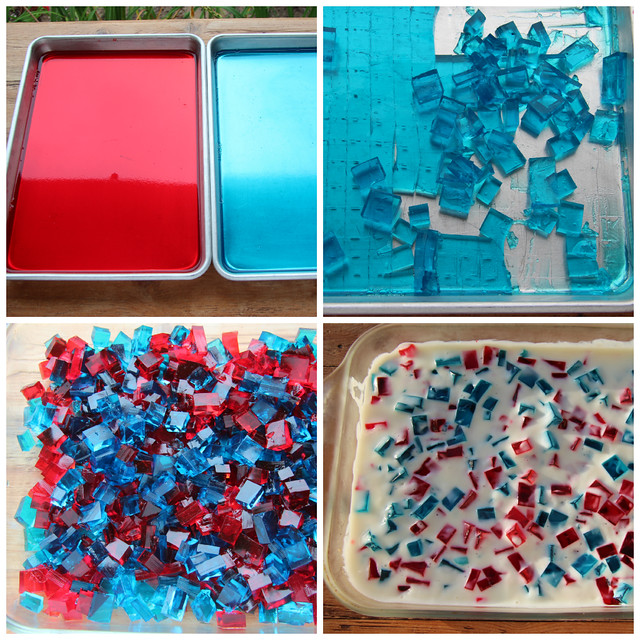4th of July Patriotic Broken Glass Jell-O
