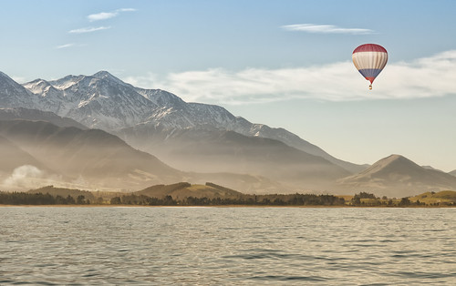 Hot Air Balloon over Kaikoura