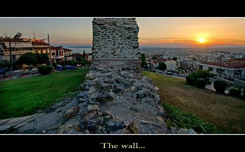 The wall...