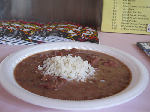 Tee-Eva's red beans & rice. Photo by Jennifer Leslie.