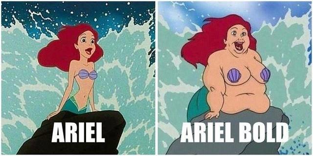 Arial vs Ariel Bold