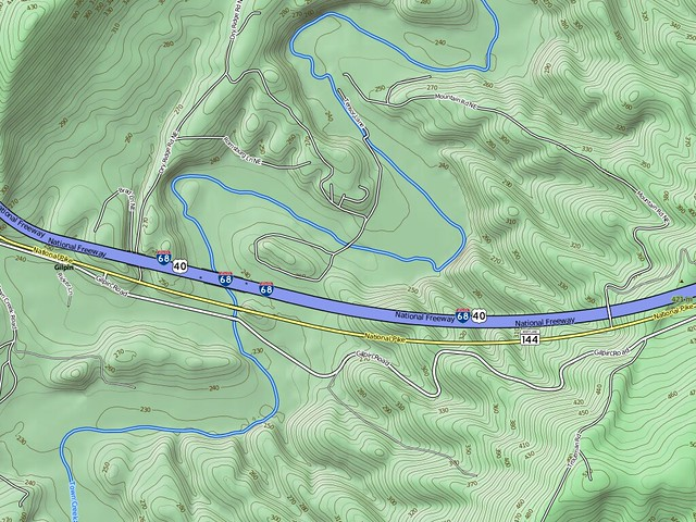 Freeway Traced from Orthorectified Imagery