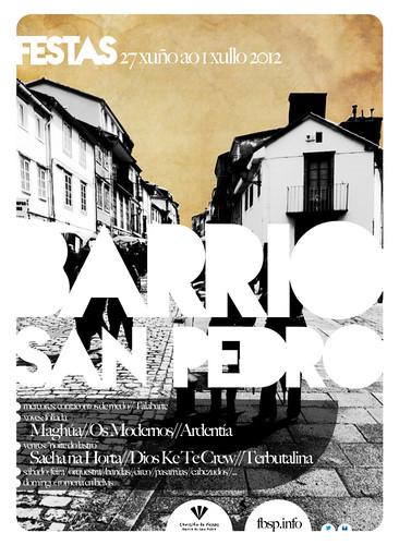 Santiago de Compostela 2012 - Festas do barrio de San Pedro - cartel