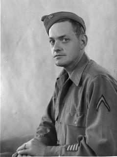Soldier's studio portrait 1945
