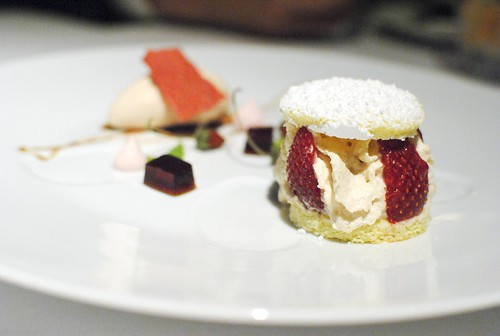 """Strawberry Shortcake"" Foie Gras Ice Cream"