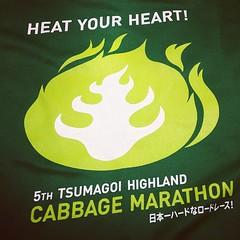 第5回 嬬恋高原キャベツマラソン のTシャツ。キャベツのデザインがいいね。