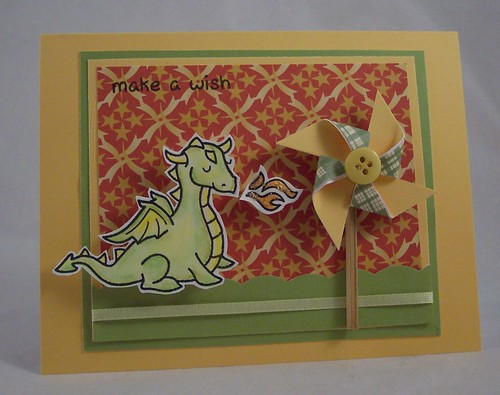Dragon Blowing Pinwheel Card