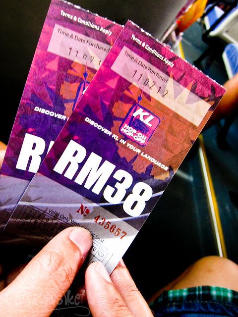 KL HOHO RM38 Ticket