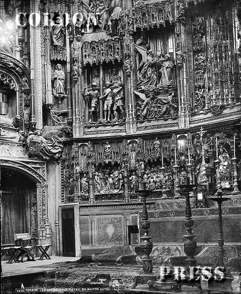 Altar Mayor de Catedral de Toledo hacia 1875-80. © Léon et Lévy / Cordon Press - Roger-Viollet