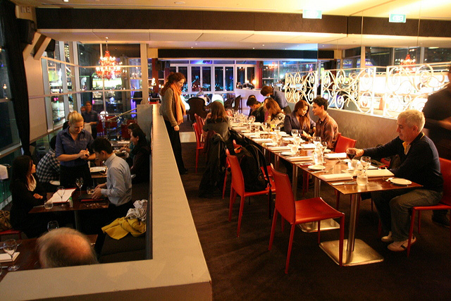 Casual atmosphere at Cruise Restaurant, The Rocks, Sydney