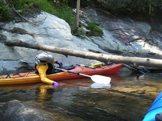 Larry Limbos at Bear Camp Creek