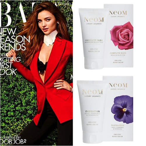 Harpers Bazaar July August UK Neom Hand Cream Freebie