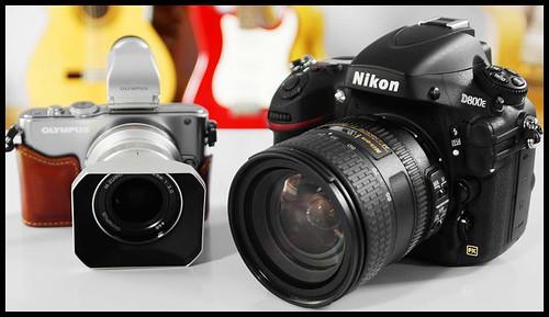 Olympus E-PL3 12mm, Nikon D800E 24-85mm
