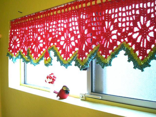 Crochet Flower Pattern Valance : Crochet valance Flickr - Photo Sharing!