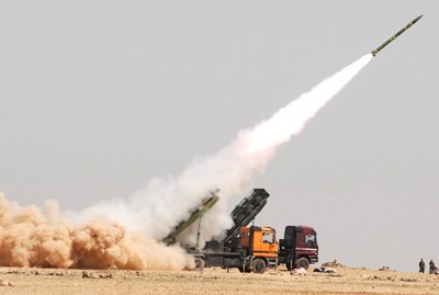 Syrian military forces conducting missile test in the Middle Eastern nation. The country and its government has been targeted for regime-change. by Pan-African News Wire File Photos