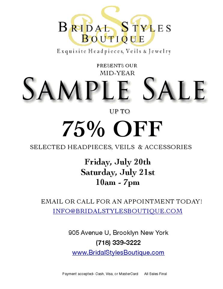 2012 Summer Sample Sale