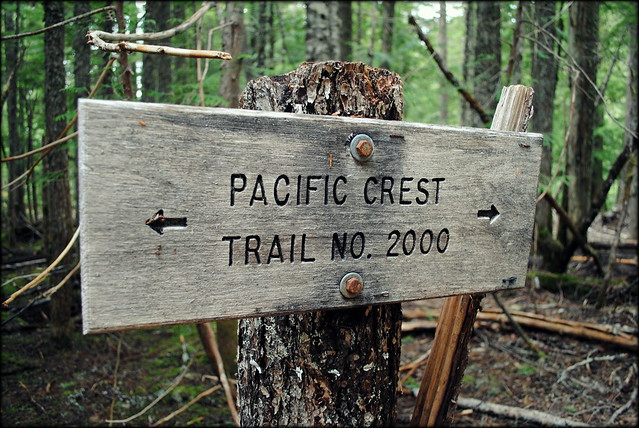 Pacific Crest Trail Sign - Ramona Falls Trail - Mt. Hood