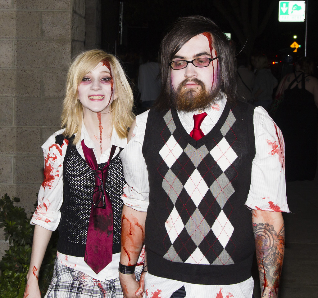 Couples costumes, Happy Not Happy Ghouls
