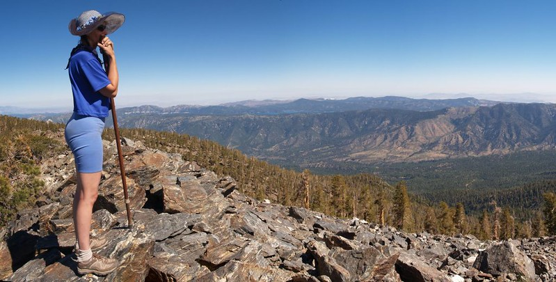 View north toward Big Bear Lake from the summit of Shields Peak
