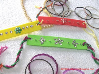 Rakhi with waste material flickr photo sharing for Handicrafts from waste