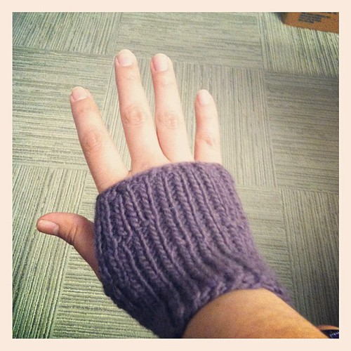 It's not perfect, but it's also not a scarf!  #knitting #wool #gloves