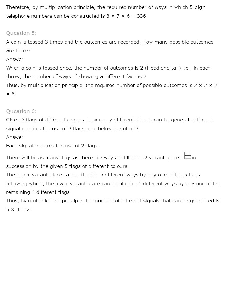 NCERT Solutions for Class 11th Maths Chapter 7 Permutation and – Combination and Permutation Worksheet