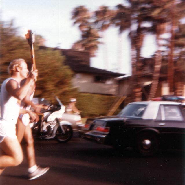1984 Olympic Torch Runner