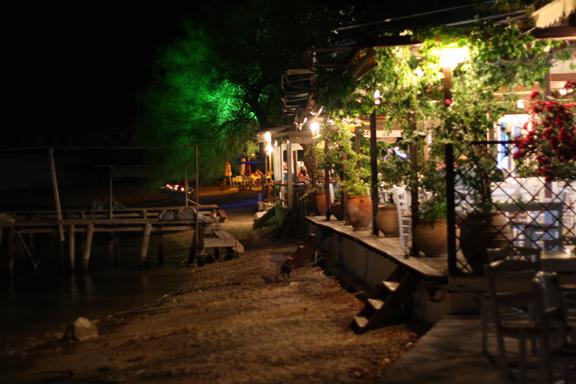 Agnontas, by night