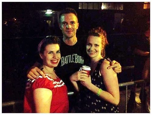 Cassidy and I with Brandon Flowers