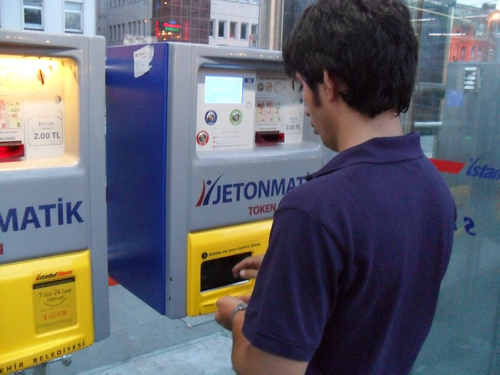 Machine to get token for Metro/Tram