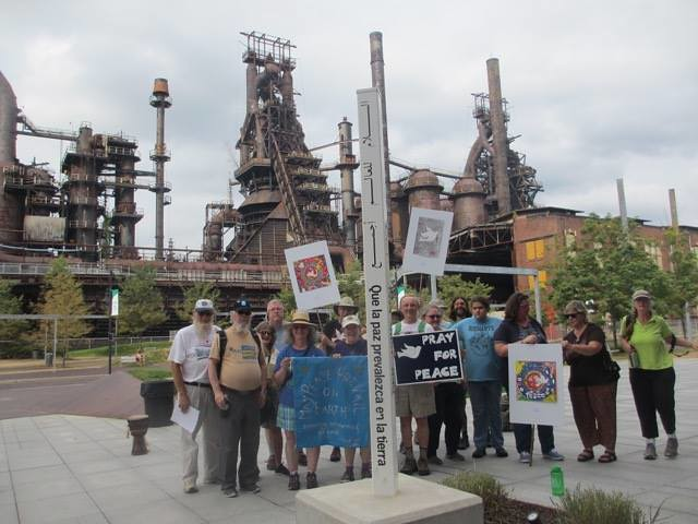 Bethlehem, PA - Peace Pole Planting during CNV Week of Actions 2016 (3)