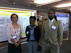<p>Michele, Robin, and Patrick at the 2012 GRC poster session.</p>