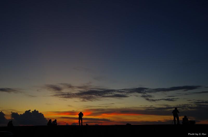 五一的夕陽