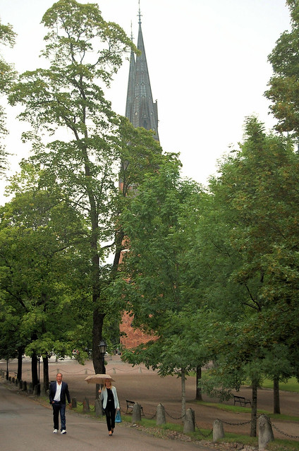 in the rain in uppsala
