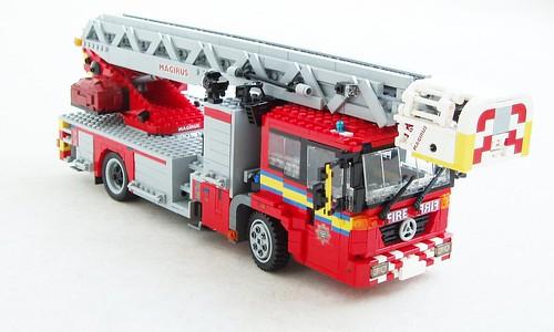 Moc Mercedes Econic Turntable Ladder Lego Technic