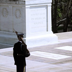 Tomb of the Unknown Soldier - guard at attention 02 - Arlington National Cemetery - 2012
