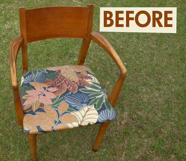 """Before"" chair seat"