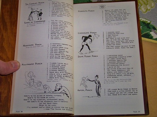Fri, 04/27/2012 - 2:55pm - We found this wood-bound drink recipe book from 1941 in an antique store, and have been making lots of them.  Somehow, we still have full kidney function.