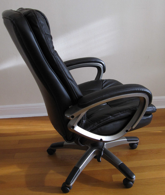Office depot black leather chair side view flickr photo sharing